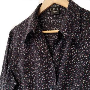 Escada | Vintage 90's Silk Confetti Printed Top